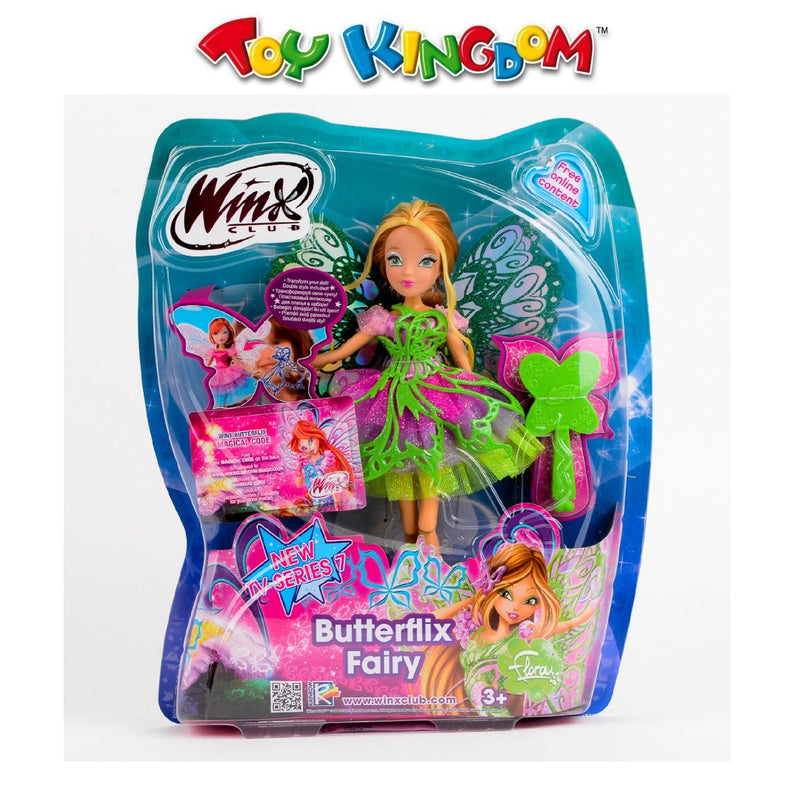 Winx Club Butterfly Fairy Flora Doll