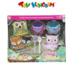 Play House Tea Set with Cookies and Toast for Girls