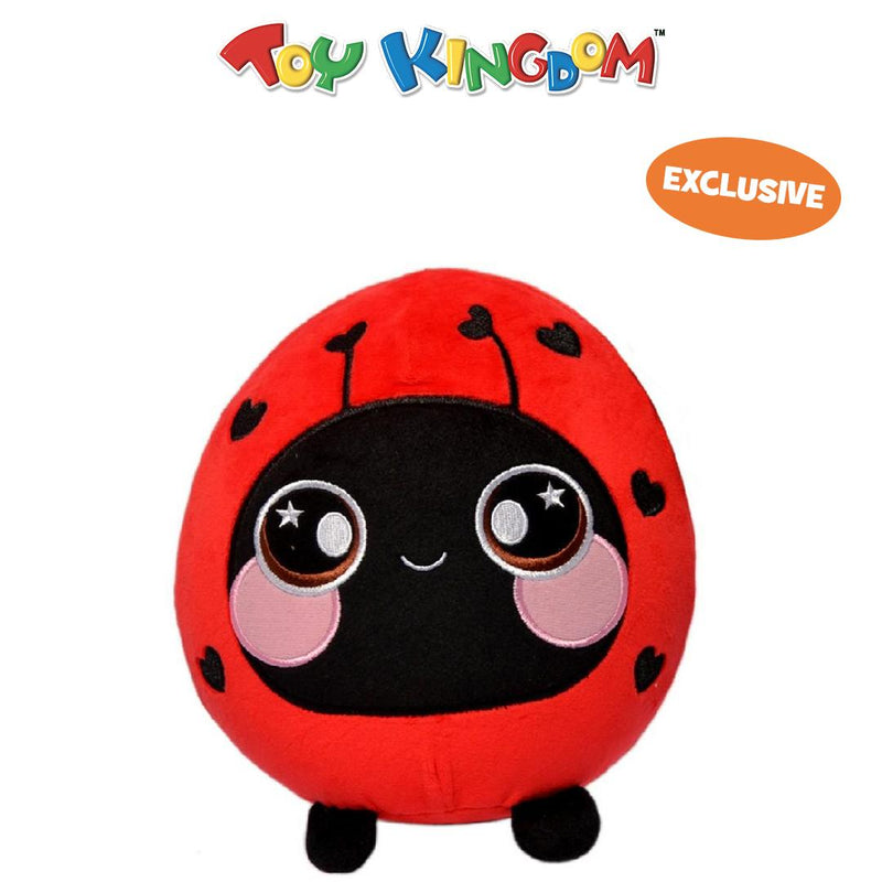 Squeezamals 8-Inch Lainey the Ladybug Squishy Stuffed Toy for Kids