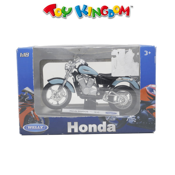 Welly Honda Shadow VT1100C Diecast Motorcycle Blue for Kids