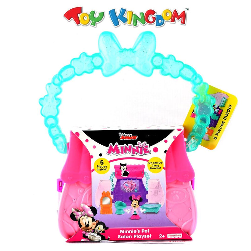 Fisher Price Disney Junior Minnie's Pet Salon Playset Portable Doll and Accessories Set for Girls