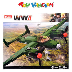 Sluban World War II 311-Pieces Building Blocks Playset for Kids