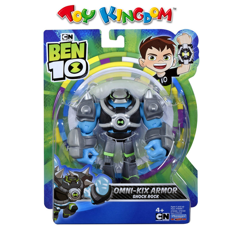 Ben 10 5-inch Basic Figure - Armored Shock Rock Toy for Boys