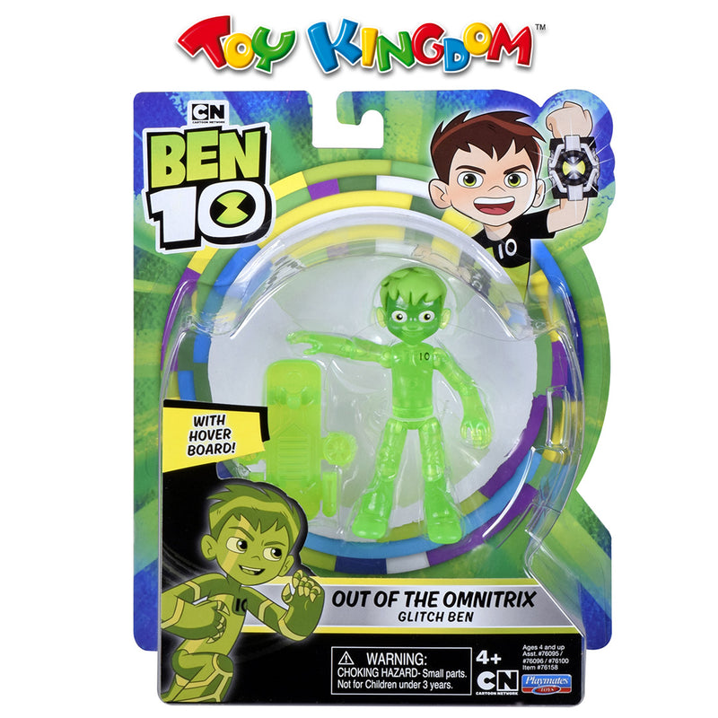 Ben 10 5-inch Basic Figure-Glitch Ben Toy for Boys