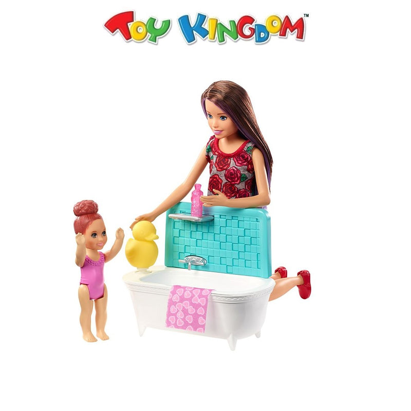 Barbie Skipper Babysitters Inc Doll Bathtub Playset for Kids