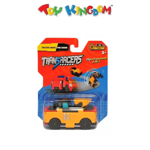 Transracers Tractor Shovel Flip & Transform 2-in-1 Car for Kids