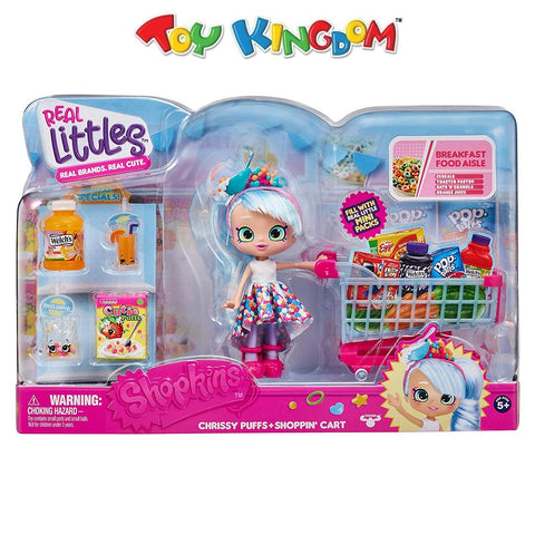 Shopkins Real Littles Chrissy Puffs and Shoppin' Cart Playset Toys for Girls
