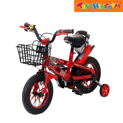 "BMX 12"" TF Boys Bike With Basket (Red) For Boys"