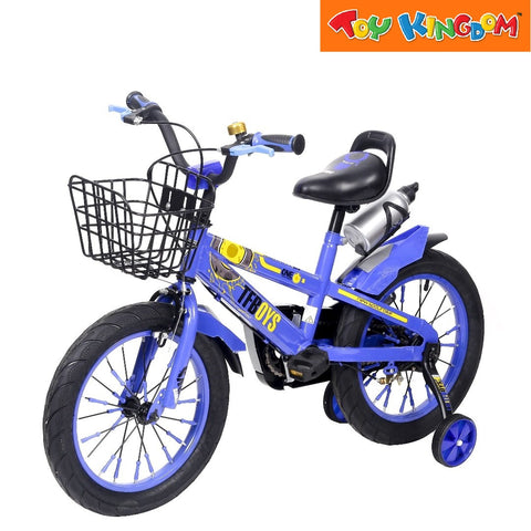 "BMX 16"" TF Boys Bike With Basket (Blue) For Boys"