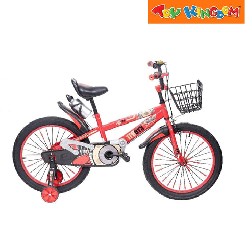 "BMX 20"" TF Boys Bike With Basket (Red) For Boys"