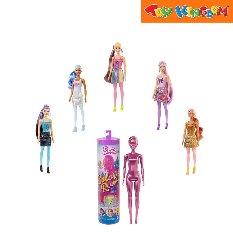 Barbie Fab Paint Reveal Doll - Glitter Series Toy for Girls