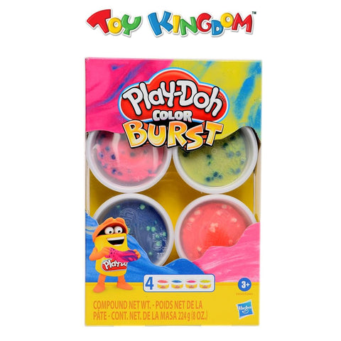 Play-Doh Color Burst Pack of 4 Bright Colors Toys for Kids