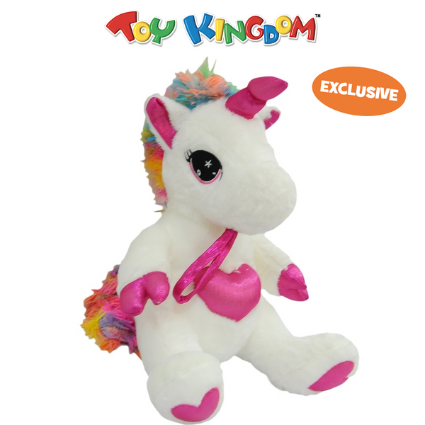 18-Inch Mini Unicorn with Pink Heart Plush Toy for Kids