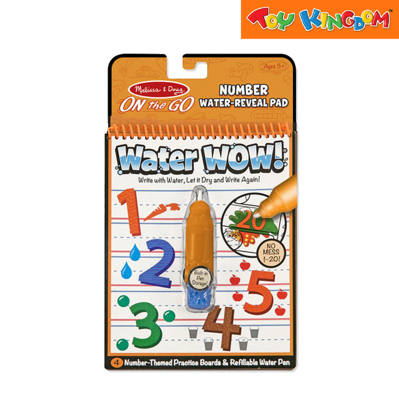Melissa & Doug On the Go Number Water Reveal Pad