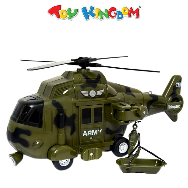 Armed Forces Rescue Advanced Simulation Military Helicopter with Lights and Sounds Toy for Kids