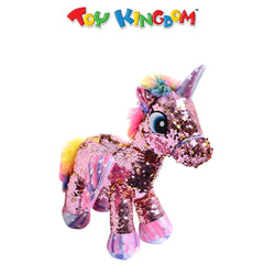 Small Sequin Unicorn Pink Plush Toy
