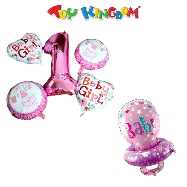 It's a Girl Balloons and Pink Baby Pacifier Balloon (Bundle) for Girls