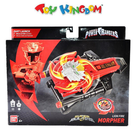 Saban's Power Rangers Super Ninja Steel Lion Fire Morpher Toy for Kids