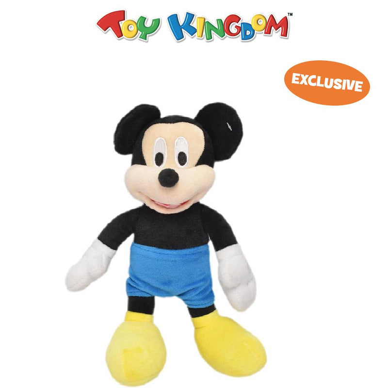 Disney Mickey Mouse 10-Inch Mickey Mouse with Blue Shorts Plush Toy for Kids