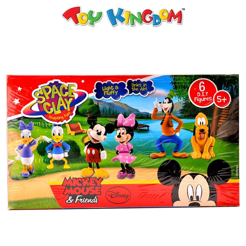 Space Clay Disney Mickey Mouse & Friends 6 Do It Yourself Figures