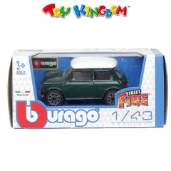 BBurago Street Fire Green with White Roof Die-Cast Vehicle for Kids
