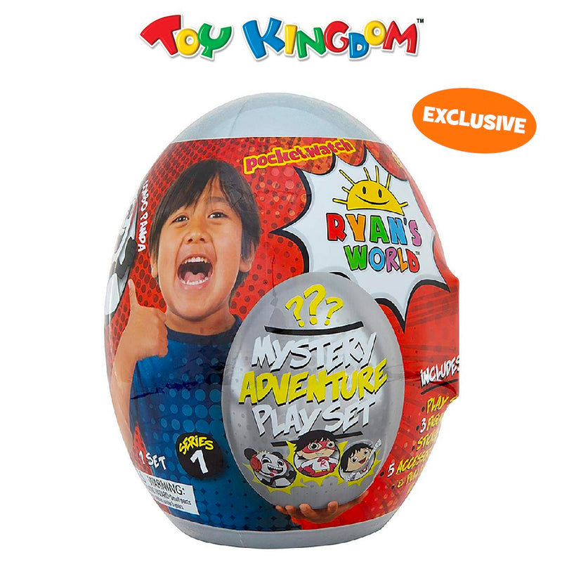 Ryan's World Silver Series 1 Egg Mystery Adventure Playset for Kids