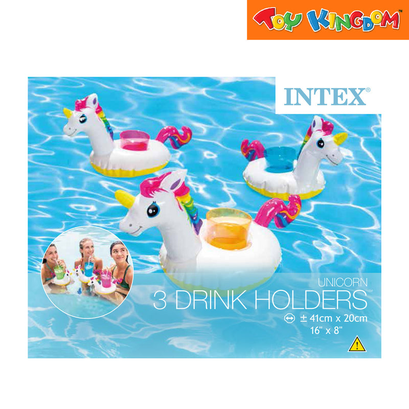 Intex 15 x 8-inch Sand & Summer Unicorn Drink Holders (3-pack)
