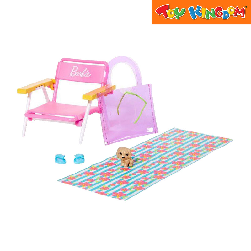 Barbie Story Starter Pack - Beach Themed Bundles Play Set Toy For Girls