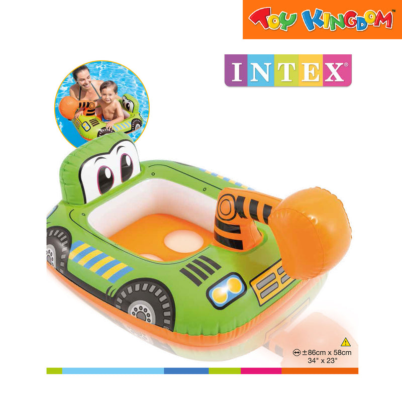 Intex Lil Bulldozer Kiddie Float 34 x 23 for Toddlers