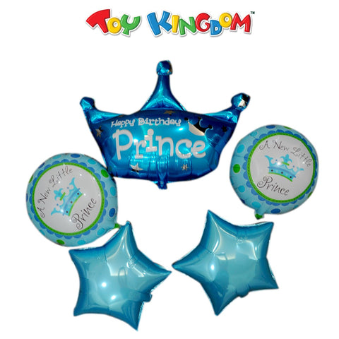 Happy Birthday Prince Party Balloons Set