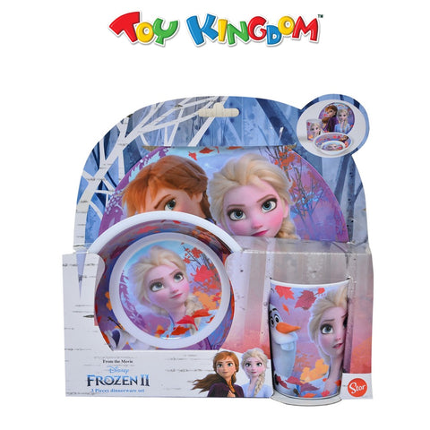 Disney Frozen 2 3-Pc Dinnerware Set for Girls