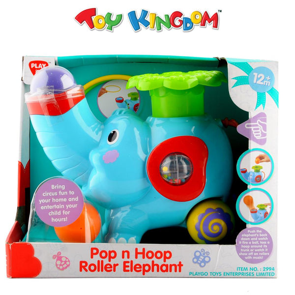 Play Go Pop N Hoop Roller Elephant