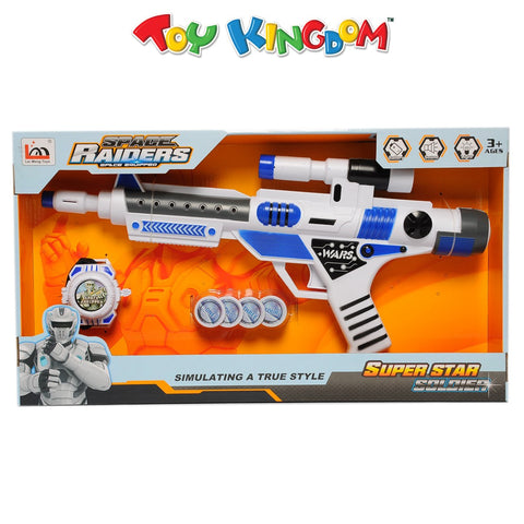 Space Raiders Space Equipped Gun with Wrist Weapon Toy for Boys