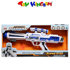 Space Raiders Space Equipped 14.5 inch Gun with Light and Sounds Toy for Boys