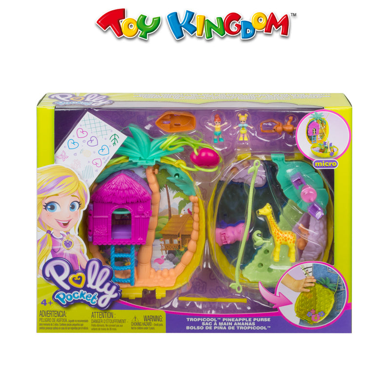 Polly Pocket Micro Tropicool Pineapple Wearable Purse Compact for Kids