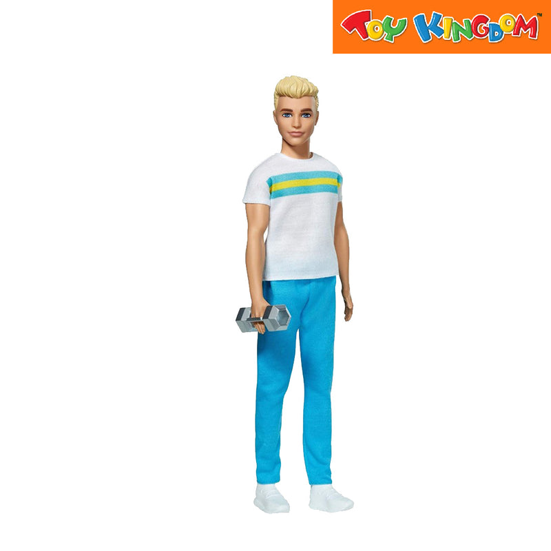 Barbie Ken 60Th Anniversary Doll In Throwback Workout Look With Sneakers & Hand Weight Toy For Girls