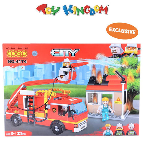 Cogo City Fire Fighter Truck 328 Pieces Building Blocks Set for Kids