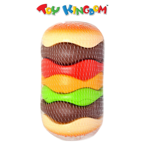 Chunky Hamburger Stacking Toy for Toddlers