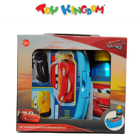 Disney Pixar Cars Sandwich Box and Aluminium Bottle Set for Kids