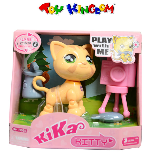 Kika Smart Tap Singing Yellow Kitty Collectible Figure for Kids