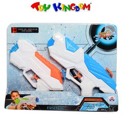 First-Rate Water Gun 2-Pack Water Blaster Toy for Kids (White and Blue)