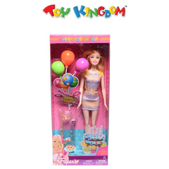 My Birthday Party 11.5-Inch Poseable Happy Birthday Doll for Girls
