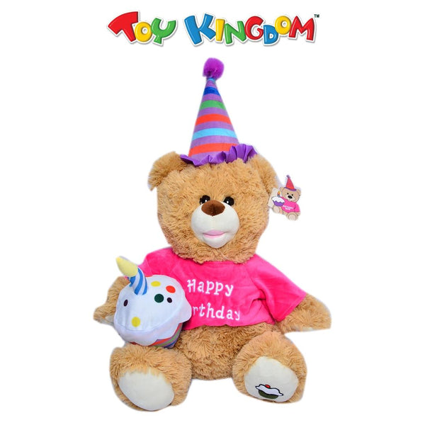 16-inch Birthday Bear with Cupcake (Pink Shirt)