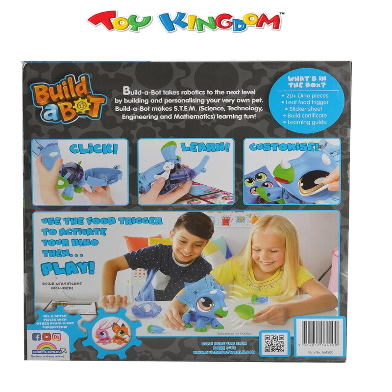 Build A Bot: Build a Bunny DIY Robotics Blue Dinosaur