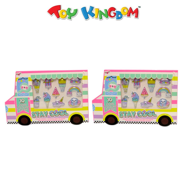 Stay Cool Ice Cream Truck Shaker Stickers Bundle