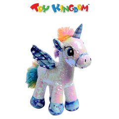 Small Sequin Unicorn White Plush Toy