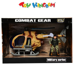 Combat Gear Military Series Military Helicopter with Lights and Sounds Playset for Boys
