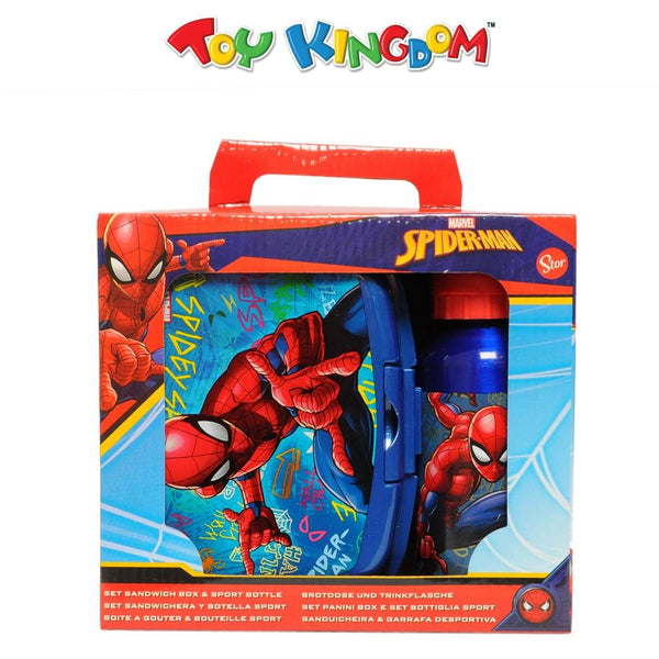 Marvel Spider-Man Sandwich Box and Sport Bottle Set for Kids
