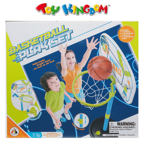Adjustable Basketball Play Set for Boys