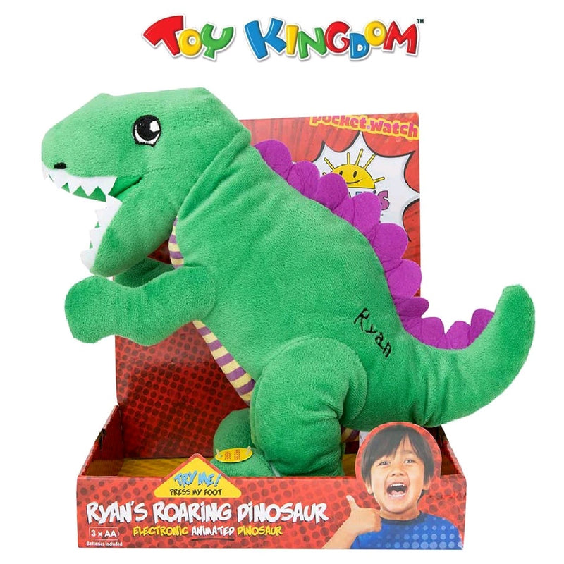 Ryan's World Roaring Green Dinosaur Toy for Kids